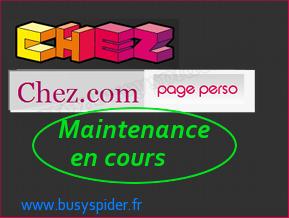 Maintenance sur les pages perso Alice et Chez.com