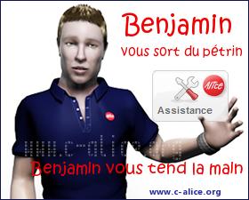 benjamin, l'assistance d'alice