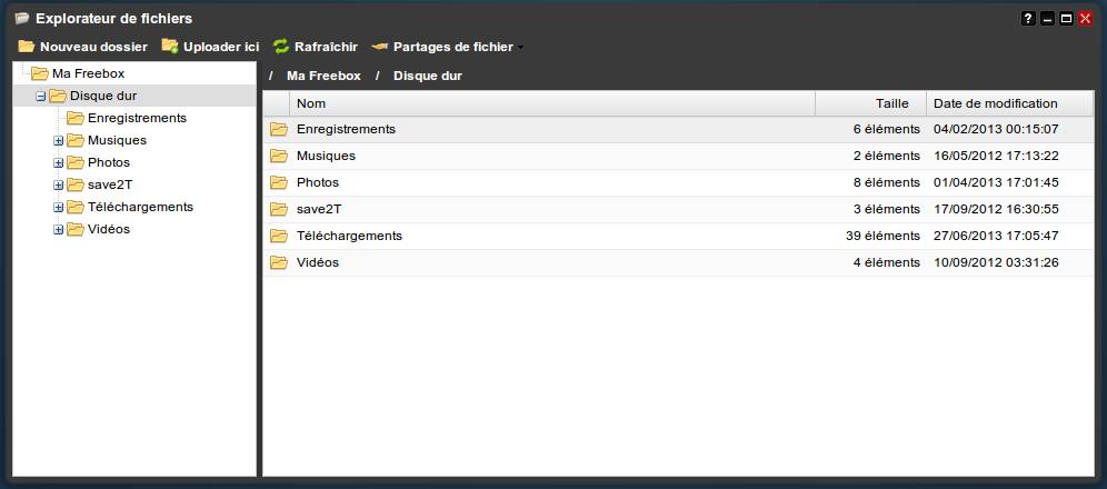 Nouveau gestionnaire de fichier Freebox OS