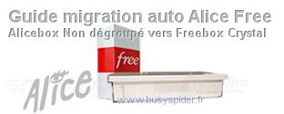 Guide de migration Alice vers Free pour les non-dégroupés (1er Novembre 2014)