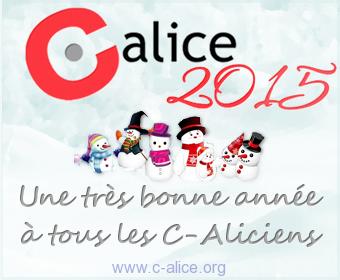C-Alice - Une très bonne année à tous les C-Aliciens