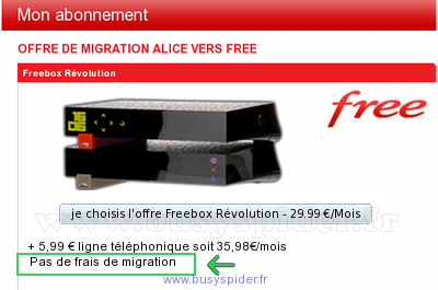 Migration gratuite Alice/Free